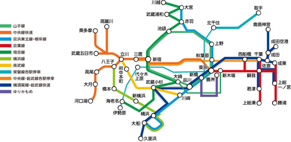 JR東日本 トレインチャンネル 掲出位置図