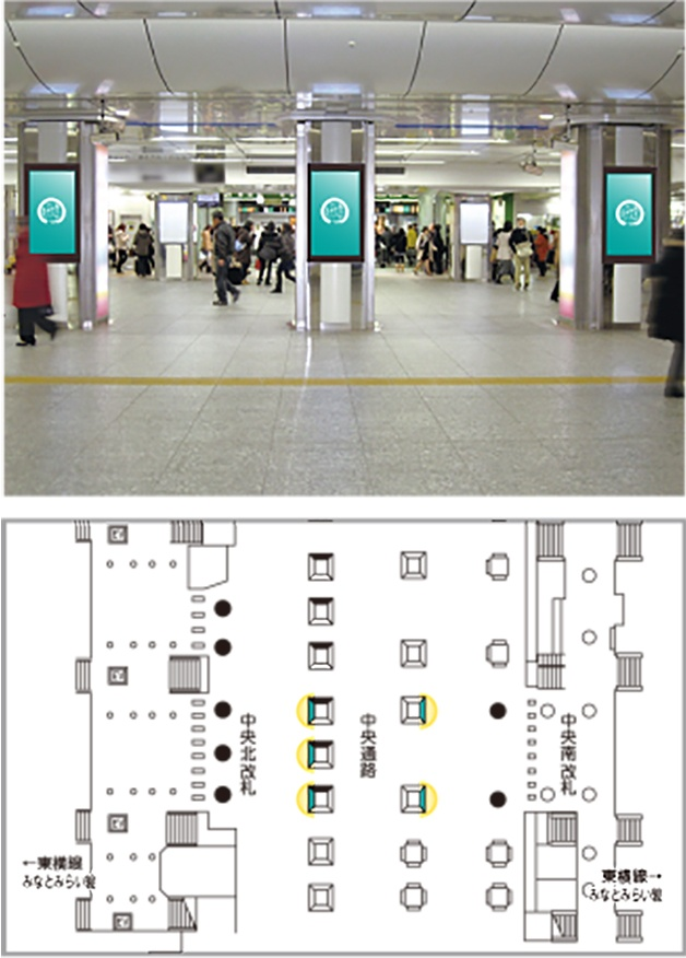 JR東日本 JAD 横浜駅中央通路