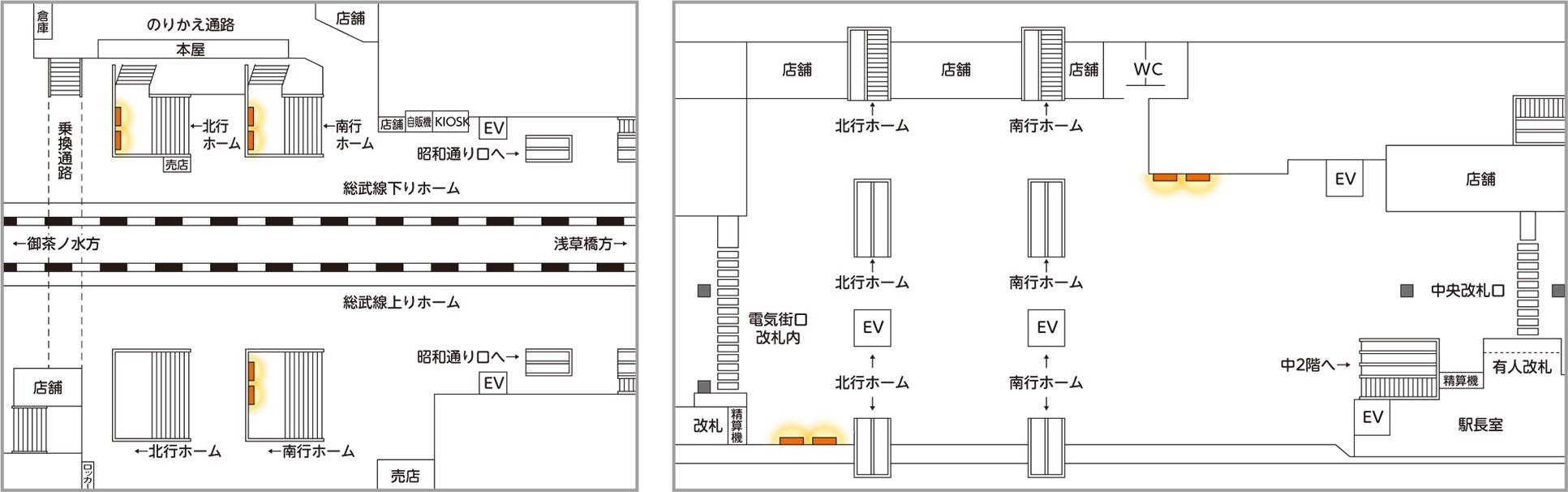 JR東日本 駅ポスター 秋葉原セット 掲出位置図