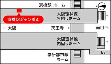 JR西日本 駅ポスター 京橋駅ジャンボ 掲出位置
